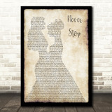 SafetySuit Never Stop (Wedding Version) Lesbian Couple Two Ladies Dancing Song Lyric Art Print