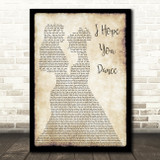 Lee Ann Womack I Hope You Dance Lesbian Couple Two Ladies Dancing Song Lyric Art Print