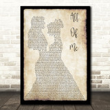 John Legend All Of Me Lesbian Couple Two Ladies Dancing Song Lyric Art Print