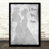 Lee Ann Womack I Hope You Dance Lesbian Couple Two Ladies Dancing Grey Song Lyric Art Print