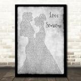 Lukas Graham Love Someone Lesbian Couple Two Ladies Dancing Grey Song Lyric Art Print