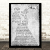 Taylor Swift Enchanted Lesbian Couple Two Ladies Dancing Grey Song Lyric Art Print