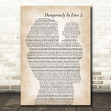Beyoncé Dangerously In Love 2 Mother & Baby Song Lyric Art Print