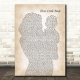 Bob Marley Three Little Birds Mother & Baby Song Lyric Art Print