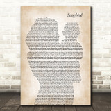 Eva Cassidy Songbird Mother & Baby Song Lyric Art Print