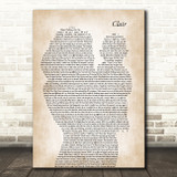 Gilbert O`Sullivan CLAIR Mother & Baby Song Lyric Art Print