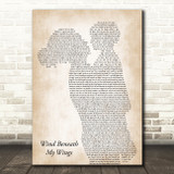 Bette Midler Wind Beneath My Wings Mother & Child Song Lyric Art Print