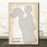 Joe Cocker You Are So Beautiful Mother & Child Song Lyric Art Print