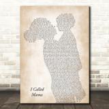 Tim McGraw I Called Mama Mother & Child Song Lyric Art Print