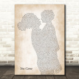 Kim Wilde You Came Mother & Child Song Lyric Art Print