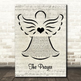 Celine Dion & Andrea Bocelli The Prayer Music Script Angel Song Lyric Art Print