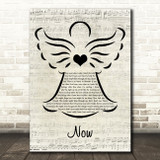 Carpenters Now Music Script Angel Song Lyric Art Print