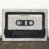 Joe Smooth Promised Land Music Script Cassette Tape Song Lyric Art Print