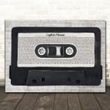 J Cole Lights Please Music Script Cassette Tape Song Lyric Art Print
