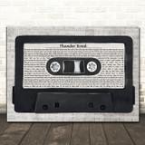 Bruce Springsteen Thunder Road Music Script Cassette Tape Song Lyric Art Print