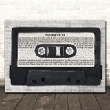 M People Moving On Up Music Script Cassette Tape Song Lyric Art Print