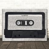 The Courteeners Sycophant Music Script Cassette Tape Song Lyric Art Print