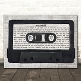 The Stone Roses Waterfall Music Script Cassette Tape Song Lyric Art Print