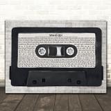 Cameo Word Up! Music Script Cassette Tape Song Lyric Art Print