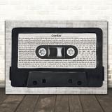 Gerry Cinnamon Canter Music Script Cassette Tape Song Lyric Art Print
