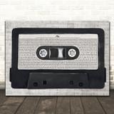 Stevie Wonder As Music Script Cassette Tape Song Lyric Art Print
