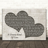 Phil Collins A Groovy Kind Of Love Landscape Music Script Two Hearts Song Lyric Art Print