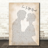 Wet Wet Wet Love Is All Around Man Lady Bride Groom Wedding Song Lyric Print