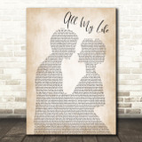 K-Ci & JoJo All My Life Man Lady Bride Groom Wedding Song Lyric Quote Print