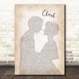 Kool & The Gang Cherish Man Lady Bride Groom Wedding Song Lyric Quote Print