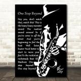 Madness One Step Beyond Black & White Saxophone Player Song Lyric Art Print