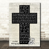 Horatio Spafford It Is Well With My Soul Music Script Christian Memorial Cross Song Lyric Art Print