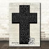 10000 Maniacs Eat For Two Music Script Christian Memorial Cross Song Lyric Art Print