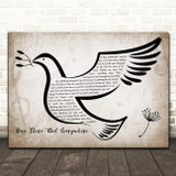 The Beatles Here, There And Everywhere Vintage Dove Bird Song Lyric Art Print