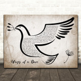 Madness Wings of a Dove Vintage Dove Bird Song Lyric Art Print