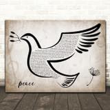 Taylor Swift peace Vintage Dove Bird Song Lyric Art Print