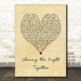 Dr. Hook & the Medicine Show Sharing the Night Together Vintage Heart Song Lyric Art Print