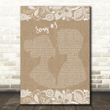 Stone Sour Song 3 Burlap & Lace Song Lyric Quote Print