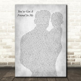 Randy Newman You've Got A Friend In Me Father & Baby Grey Decorative Gift Song Lyric Print