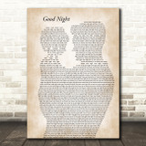 The Beatles Good Night Father & Child Decorative Wall Art Gift Song Lyric Print