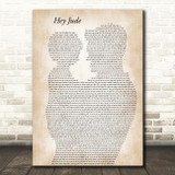The Beatles Hey Jude Father & Child Decorative Wall Art Gift Song Lyric Print