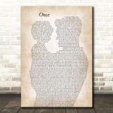 Liam Gallagher Once Father & Child Decorative Wall Art Gift Song Lyric Print