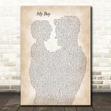 Elvie Shane My Boy Father & Child Decorative Wall Art Gift Song Lyric Print