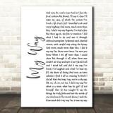 Frank Sinatra My Way White Script Song Lyric Quote Print