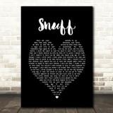 Slipknot Snuff Black Heart Song Lyric Quote Print