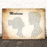 James Arthur Medicine Man Lady Couple Decorative Wall Art Gift Song Lyric Print