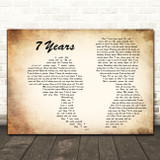 Lukas Graham 7 Years Man Lady Couple Decorative Wall Art Gift Song Lyric Print