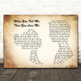 Diana Ross When You Tell Me That You Love Me Man Lady Couple Song Lyric Print