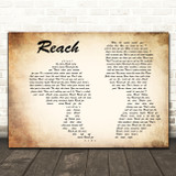 S Club 7 Reach Man Lady Couple Decorative Wall Art Gift Song Lyric Print