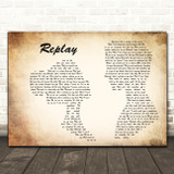 Iyaz Replay Man Lady Couple Decorative Wall Art Gift Song Lyric Print