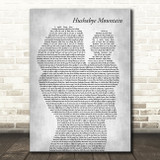 Dick Van Dyke Hushabye Mountain Mother & Baby Grey Decorative Wall Art Gift Song Lyric Print